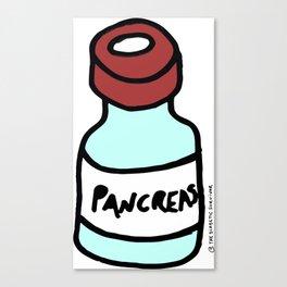 Diabetes: Diabetic Vial Pancreas Canvas Print
