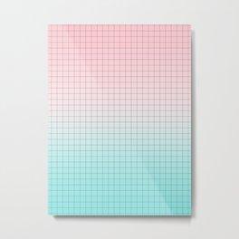 Millennial Pink and Light Blue Geometry Metal Print