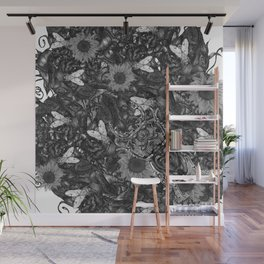 Bug over flesh and flowers Wall Mural