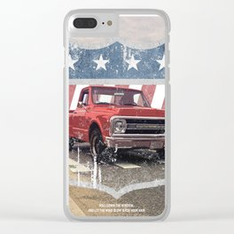 Dusty Beach Road Chevrolet Clear iPhone Case