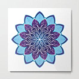 Mandala Flower Floral Ornament Metal Print