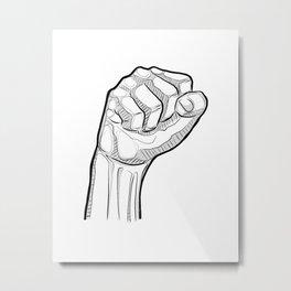 Human fist symbol illustration Metal Print