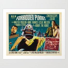 Forbidden Planet Poster  Art Print