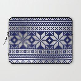 Winter knitted pattern 2 Laptop Sleeve