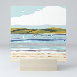 Modern Sailboats Mini Art Print