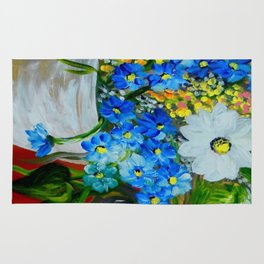 Flowers in a White Vase Rug