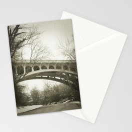 Vintage Retro Rustic Sepia Toned Bridge with Framing Tree Wall Art Lustre Print OR Framed Print Stationery Cards