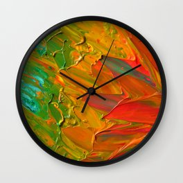 Lapeda Textile Art - 1 Wall Clock