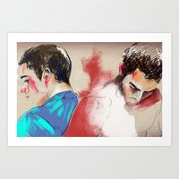 sterek Art Prints featuring sterek by Crisis