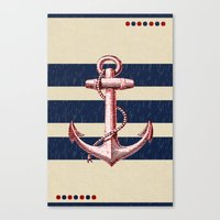 anchors Canvas Prints featuring Anchors by Katherine Marshall