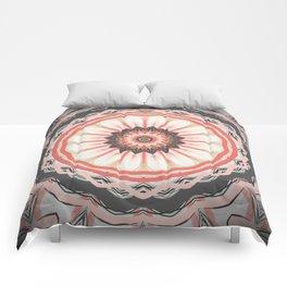 Autumn Pastel Flower Mandala Comforters