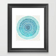 Radiate in Teal + Emerald Framed Art Print