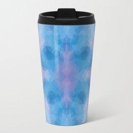 Kaleidoscopic design in soft blue colors Travel Mug