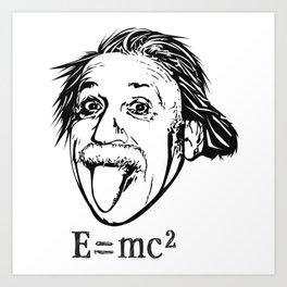 Albert Einstein With E=mc2 Art Print