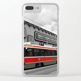 Red Rocket 4b Clear iPhone Case