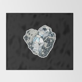 Hematite Crystal Cluster Throw Blanket