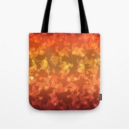 Autumn leaf fall. The bokeh effect. Tote Bag
