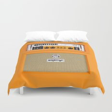 Retro Orange guitar electric amp amplifier iPhone 4 4s 5 5s 5c, ipad, tshirt, mugs and pillow case Duvet Cover