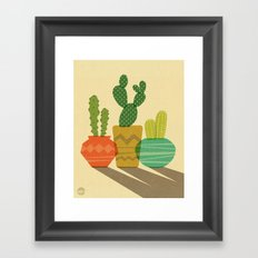 Cactus Trio Framed Art Print