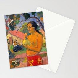 "Paul Gauguin ""Eu Haere Ia Oe (Woman Holding a Fruit. Where are You Going)"" Stationery Cards"