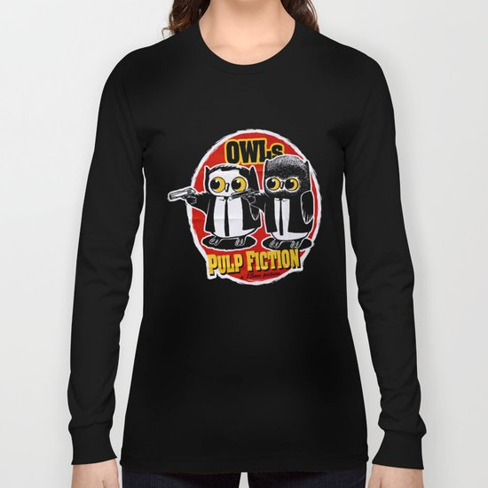 Owls Pulp Fiction Long Sleeve T-shirt