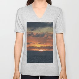 Heavenly Sunset Unisex V-Neck