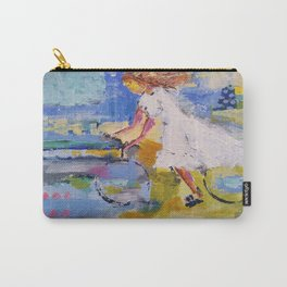 Girl and bicycle Carry-All Pouch