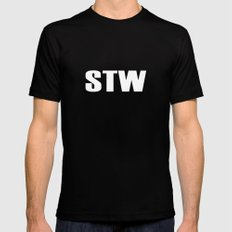 STW SMALL Black Mens Fitted Tee