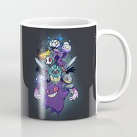 gengar Mugs featuring Ghost Type by Dinolich