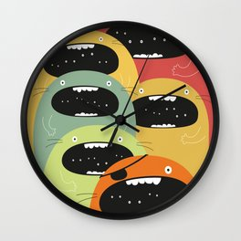 Monster gang. Wall Clock