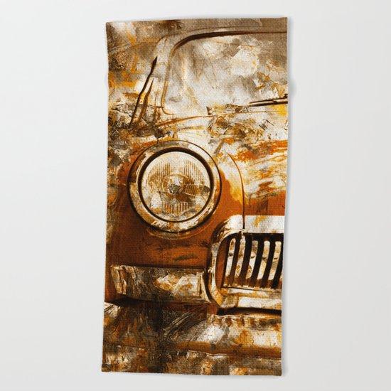Car Wash 2 Beach Towel