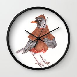 Sherlock Robin Wall Clock