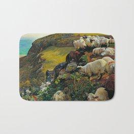 "William Holman Hunt ""Our English Coasts (Strayed Sheep)"" Bath Mat"