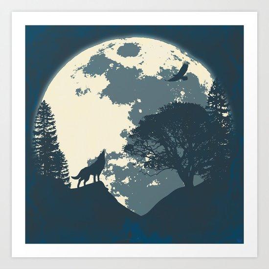 Monotoned Night Time... Art Print