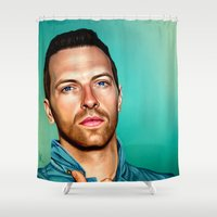 coldplay Shower Curtains featuring Blue Eyes by tillieke