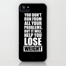 Lab No. 4 - It will help you lose weight Gym Workout Quotes Poster iPhone Case