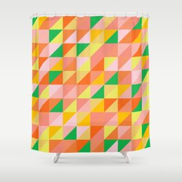 Geometric Citrus Pattern Shower Curtain
