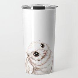 Baby Snowy Owl Travel Mug