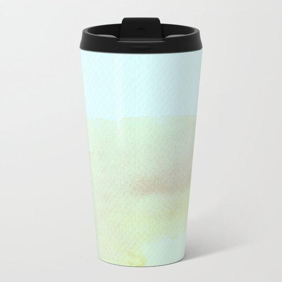 Abstract #watercolor Metal Travel Mug