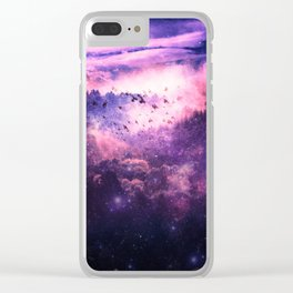 Soaring Space Clear iPhone Case