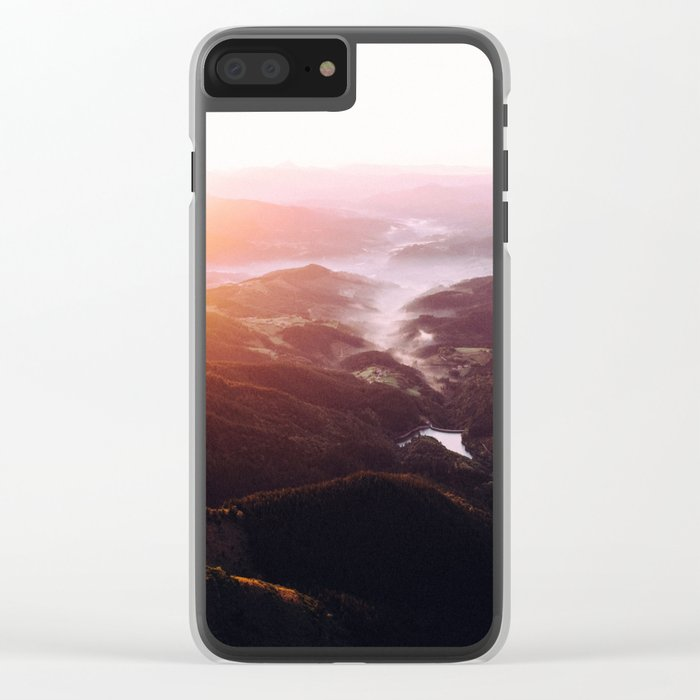 Morning Glory Mountain Landscape Clear iPhone Case