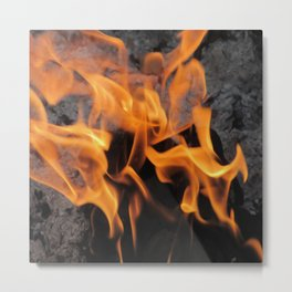 Sitting By the Crackling Fire Metal Print