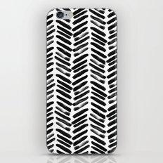 Simple black and white handrawn chevron - horizontal -  #Society6 iPhone Skin