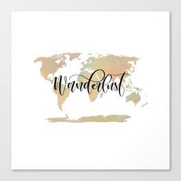 Wanderlust (blush/green) Canvas Print