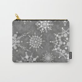 Winter Snowflakes Carry-All Pouch