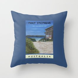 Travel Poster One Mile, NSW Throw Pillow