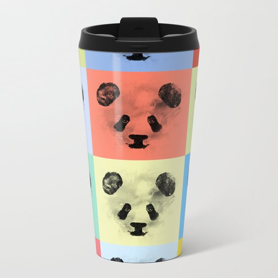 Panda Panda Panda Metal Travel Mug