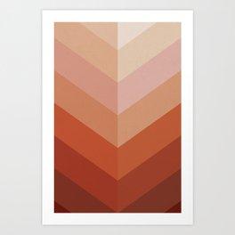 Chevron Geometry 3. Terracotta Art Print