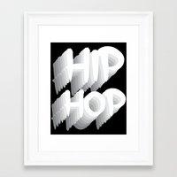 hip hop Framed Art Prints featuring Hip Hop by Eleni Dreamel
