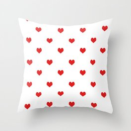 Minimal Valentines Day white and red pattern print love valentine must have romantic gifts Throw Pillow